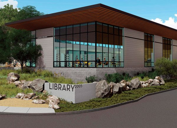 Proposed Capitola Branch Library design - view from Clares Street